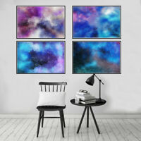 Colorful Starry Sky Abstract Canvas Painting Poster Print Wall Art Home Decor