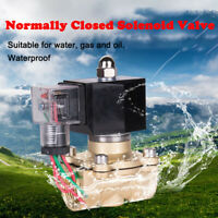 SOLENOID VALVE AIR WATER GAS OIL BRASS NORMALLY CLOSED AC220V/DC24V BSP