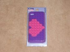 NEW, 3D PINK & PURPLE HEART IPHONE 4/4S CASE, FROM CLAIRE'S
