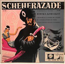 Scheherazade Symphonic Suite Rimsky-Korsakov Ansermet LP London ffrr LL1162