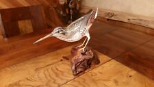 Common snipe wood carving jacksnipe duck decoy shorebird decoy Casey Edwards