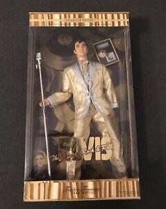 Mattel Timeless Treasures Elvis Presley King of Rock & Roll Gold Suit Box Damage
