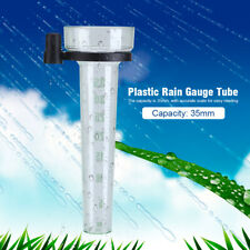 Garden Yard Clear Rain Gauge Udometer Replacement Plastic Tube Accurate Scale