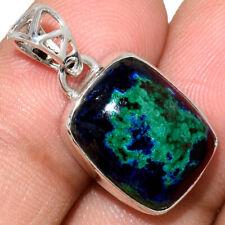 Azurite In Malachite - Morenci Mines 925 Silver Pendant Jewelry AP211574