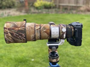 Olympus 150 400 Neoprene lens protection Premium range fabrics