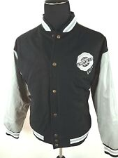 Chrysler Mens Medium Varsity Jacket Coat Wool Blend Gray Black Letterman Style