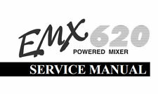 YAMAHA EMX620 POWERED MIXER SERVICE MANUAL BOOK INC CIRCUIT DIAGRAMS IN ENGLISH