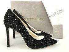 72e7b0507981 Jimmy Choo Romy 100 Velvet Crystal HEELS PUMPS Size 40 US 9.5 10 Receipt