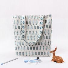 New Lady Blue Canvas Shopping Shoulder Handbag Reusable Satchel Travel Tote Bag