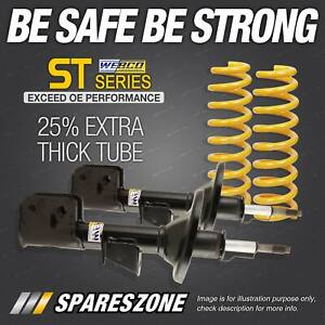 Rear Webco Shock Absorbers Raised King Springs for NISSAN X-TRAIL T30 I II 01-07