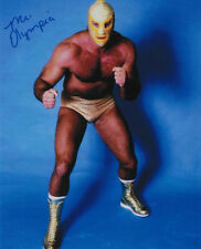 Mr. Olympia signed 8x10 color wrestling photo Jerry Stubbs