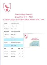 Ernest PAVONE bristol city 1946-1958 rara mano originale firmato TAGLIO / CARD