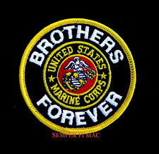 BROTHERS FOREVER US MARINES HAT PATCH EAGLE GLOBE & ANCHOR EGA PIN UP MCAS MCB