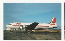 Pacific Southwest Airlines Douglas DC-4 Aviation Postcard, A667