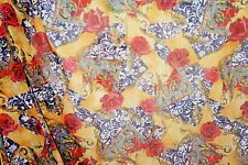 Chiffon Fabric Animal Print Floral Semi Sheer Fabric By the Yard Bfab