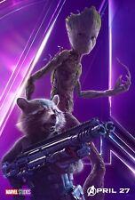 Poster A3 Vengadores Avengers Infinity War Rocket Groot Guardianes De la Galaxia