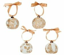 CleverUsam Led Porcelain Relief Ornaments Light Up in Dark Gift, Set of 4!