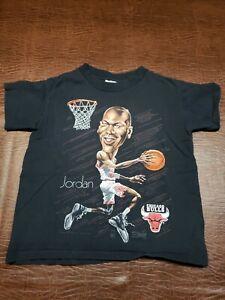 Vintage 90's Michael Jordan Caricature Salem Sports Youth T-Shirt Size M 10-12