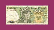 MONNAIE ➤ Billet de 50 Zloty Type Karol Swierczewski Banknote Biljet 1979