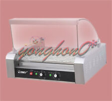 220V 2.2 KW Commercial 11 Roller Hot Dog Grill Cooker Machine