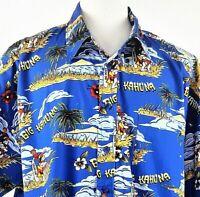 Big Dogs Hawaiian Aloha Shirt Mens XL Tropical Islands Surfboards Big Kahuna