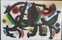 Joan Miro Original Stone Lithograph VIII Doublepage Mourlot 1972 Limited ed Rare
