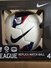 SOCCER BALL-NIKE SIZE 4-REPLICA MATCH BALL-WHITE/BLUE/RED IN COLOR-NEW-IN BOX-