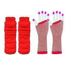 LEG WARMERS & OR FISHNET GLOVES LEG WARMERS NEON 1980'S PARTY FANCY DRESS TUTU