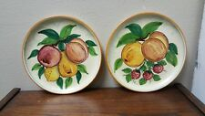 """Dipinto a mano hanging hand painted pottery plates - Set of (2) 9 1/4"""""""