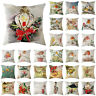 45x45cm Bird Vintage Linen Pillow Case Sofa Waist Throw Cushion Cover Home Decor