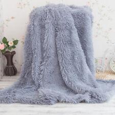 NEW Soft Warm home Micro Plush Shaggy Fur Blanket Throw Rug sleep Sofa Bedding