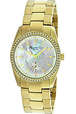 KENNETH COLE KC4732,Ladies Dress,Stainless,Gold-Tone,Crystal Accented Bezel,30m
