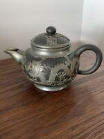 Vantage Chinese Wen Hua Shun ceramic & pewter Teapot
