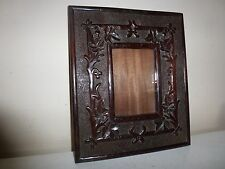Superb Carved Wood Antique Picture Frame v Arts & Crafts Nouveau Folk 32 X 27cm