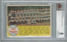 1958 Topps LOS ANGELES DODGERS # 71 (BVG 8 NM-MT) (156