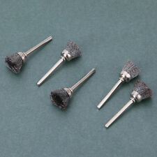 5Pcs 13mm Steel Wire Wheel Brushes Cup Rust Rotary Tools Set Dremel Accessories