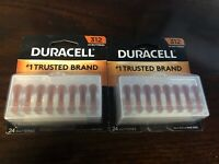 48 pc Duracell Hearing Aid Batteries Size 312 Expire 2022 Super Fresh 48