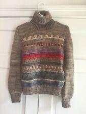Vintage 70's Paul Stuart Chunky Knit Wool Sweater Made In Uraguay Women's Sz S