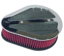 Wimmer V2X Teardrop Air Cleaner Hop Up Kit For S&S Carburetor Billet Chrome D7