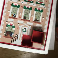 CHRISTMAS TOWNHOUSE ADVENT calendar wooden house bnib