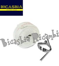 10261 - NASTRO TERMICO ISOLANTE CHIARO PER COLLETTORI MOTO (2mm x 50mm x 3MT)