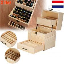 Grande boîte de rangement en bois pour huiles essentielles Récipient FR STOCK!