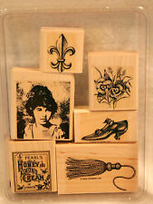 Stampin Up Days Gone By Rubber Stamps Antiques Vintage Mixed Media Collage