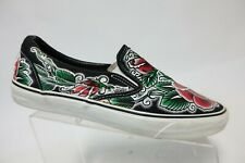 VANS Slip-On Black/Red Sz 12 Men Oliver Peck Rose Loafers