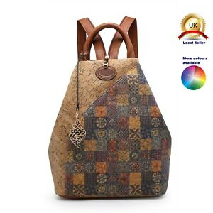 New Lovely Boutique Backpack Woman Lady Girl S-Medium Synthetic Cork Back Bag