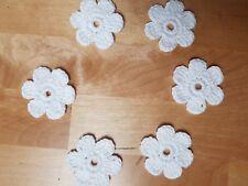 Applikation gehäkelt Aufnäher,6 Blumen