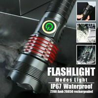 XHP70 LED Flashlight Rechargeable 1000000 Lumens Super Bright USB Zoom Torch