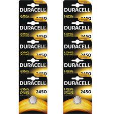 10 Pcs Duracell CR2450 ECR2450 CR 2450 3V Coin Cell Lithium Button Battery