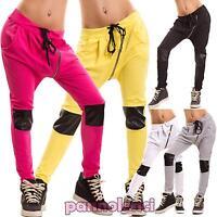 Pantaloni donna fitness jogging inserti ecopelle turca cavallo basso CC-1269