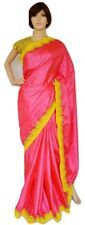 Pink Colour Zoya Silk Saree With Designer Blouse Piece